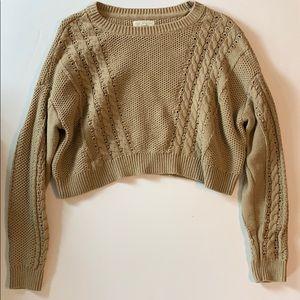 LA Hearts Cable Knit Dolman Pullover Sweater